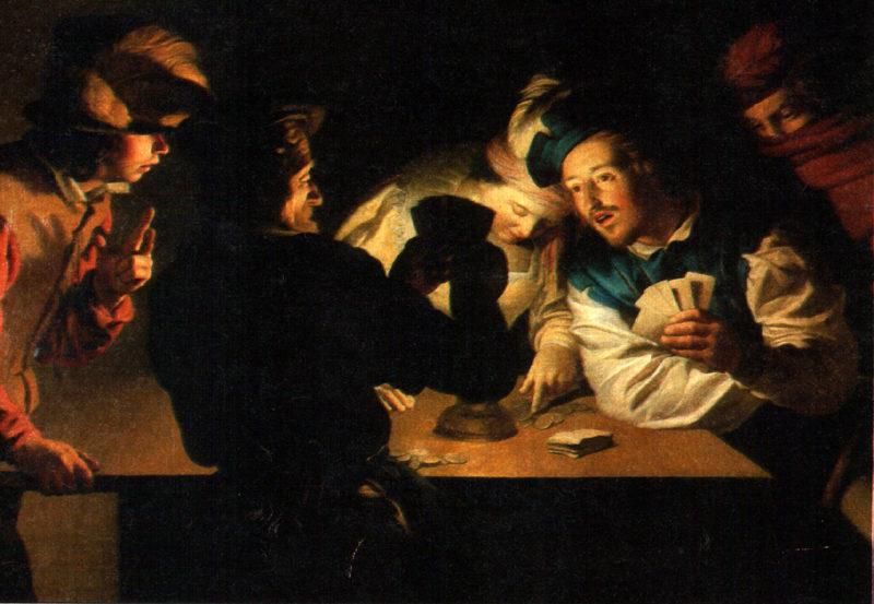 Kartenspiel im Mittelalter - Glücksspiel