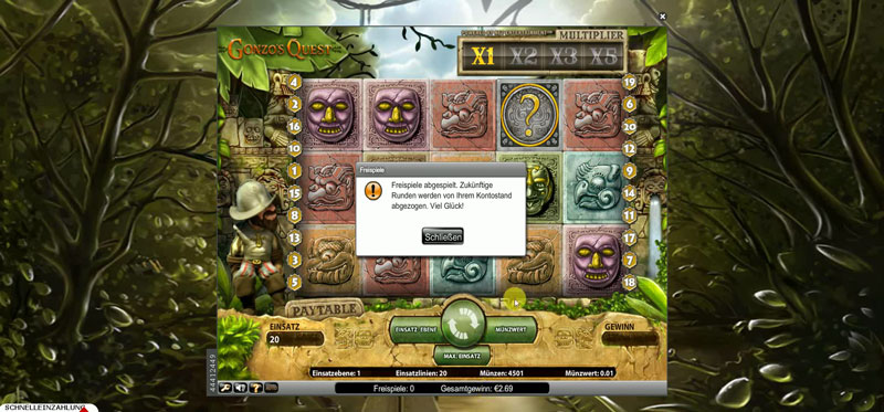 Gonzos Quest Slot online spielen